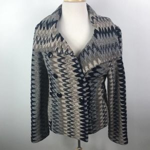 Beth Bowley Striped Double Breasted Pea Coat